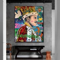 graffiti pop art singer and boxer poster oil painting canvas print wall art picture for living room home decoration frameless
