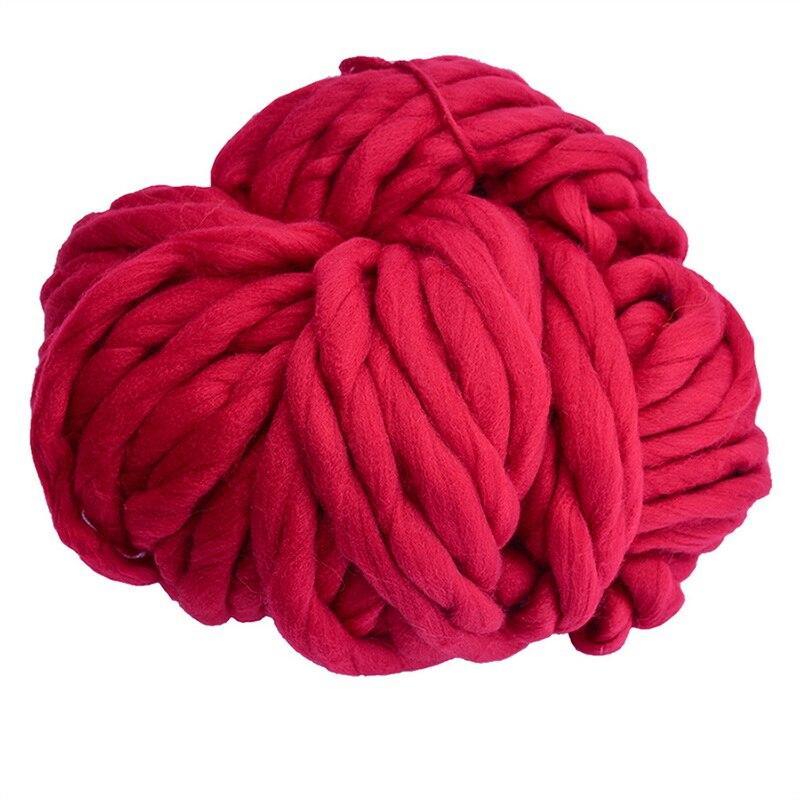 Caliente 250g/rollo colorido grueso lana islandesa hilo grande grueso para tejer sombrero/Alfombra estera ganchillo tejido a mano hilo