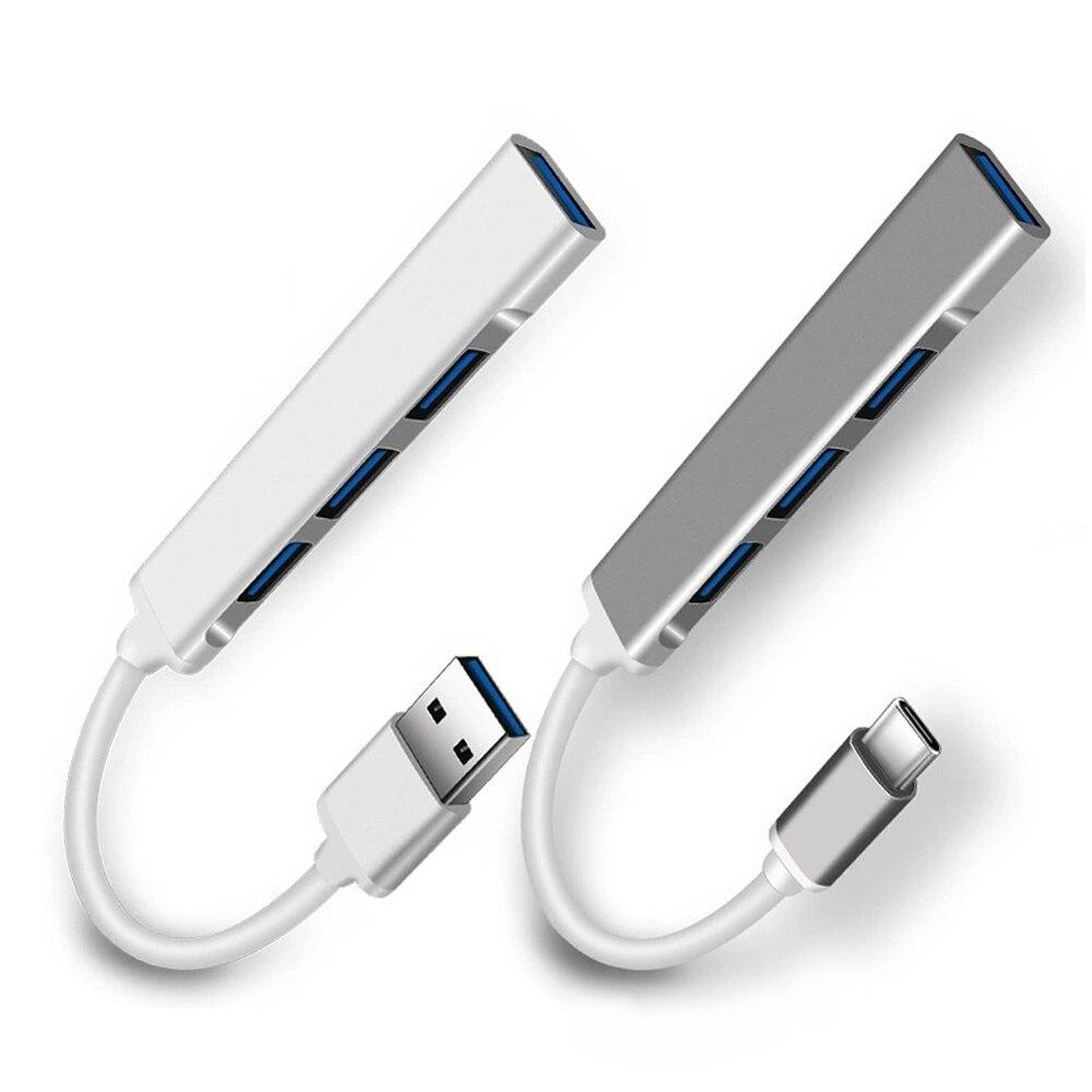 USB C HUB 3.0 Type C 3.1 4 Port متعدد الفاصل محول OTG USB لماك بوك برو 13 15 Air Mi Pro هواوي ملحقات الكمبيوتر