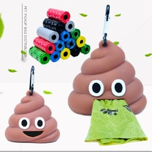 Sacs à ordures distributeur chat animaux   Sacs à ordures, support de distributeur, chien Poop forme de sac poubelle, boîte de rangement déchet danimaux, outils de nettoyage