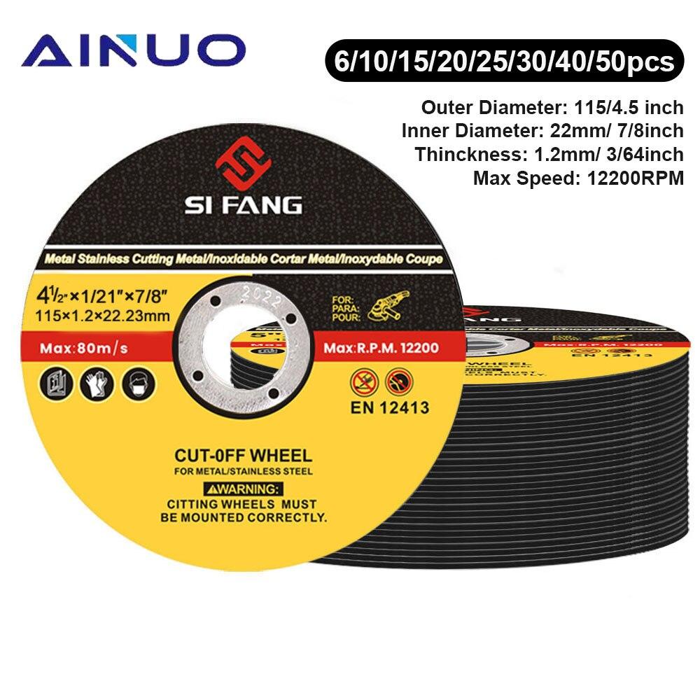 Отрезные диски из нержавеющей стали и смолы, 115 мм, дюйма, отрезные диски, шлифовальные диски, шлифовальные диски, угловая шлифовальная машин...