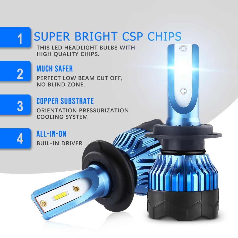 BraveWay 2020 NEW Item CSP Chip Mini Size LED Bulb H1 H4 H7 H8 H11 HB3 HB4 9005 9006 LED Headlight for Cars Light Bulbs Ice Lamp