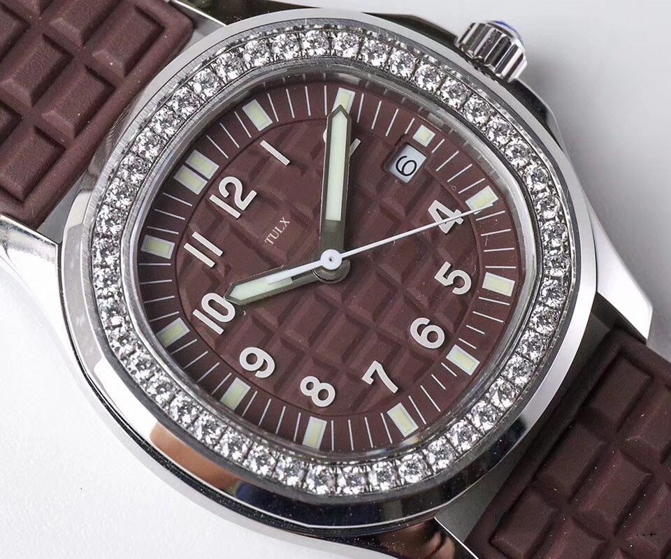 Replica Ladies Sports Series TULX 5067A-023 Dark Brown High Imitation Automatic Mechanical Top Brand Women Watch enlarge