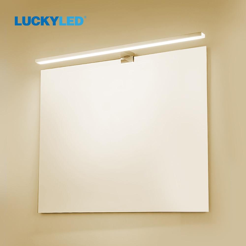 LUCKY светодиодный настенный светильник AC85-265V, 6 Вт, 12 Вт, настенный светильник, светильник для ванной комнаты, светильник s, современные настен...