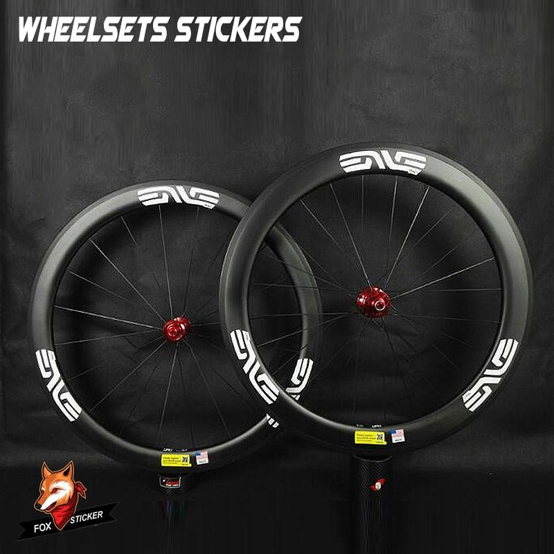 Etiquetas 2019 para Pegatinas de dos ruedas pegatinas reflectantes de Carbono para juego de ruedas de Carbono 700c llantas para cubiertas