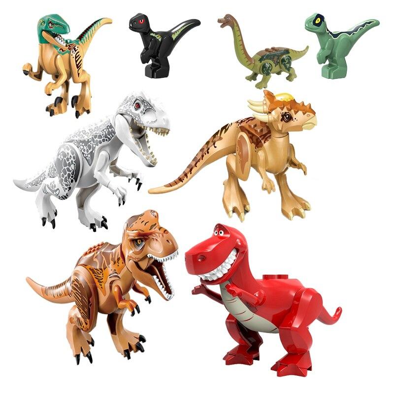 Dinosaurios modelo Jurásico World dinosaurios Parque dinosaurio Raptor Zone Indominus Rex niños animales de juguete juegos construcción juguetes de bloques