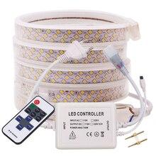 AC 220V LED 리본 SMD 2835 276Led/m Led 스트립 화이트/따뜻한 화이트 방수 LED 빛 스트립 Dimmerable 11Key 유연한 LED 빛