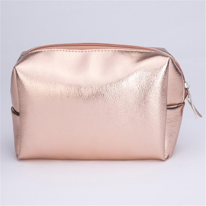Женская косметичка розового золота, косметичка на молнии, косметичка, органайзер, чехол для хранения, косметичка