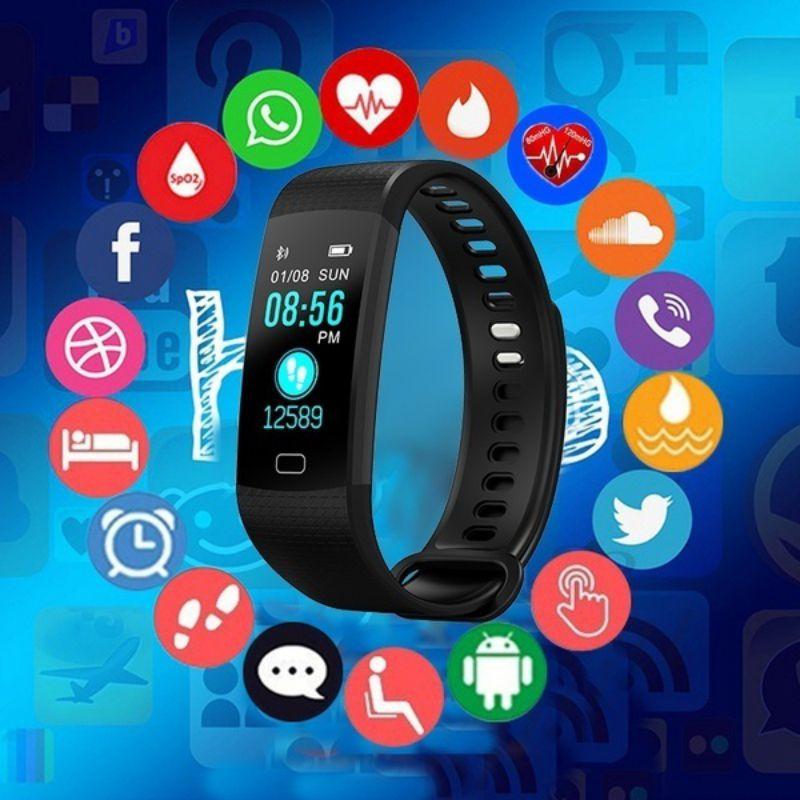 Y5 bande intelligente traqueur de fréquence cardiaque Tracker de Fitness Y5 Smartband Bracelet intelligent étanche Bracelet intelligent montre intelligente M