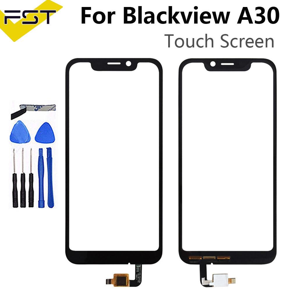 Repuesto de Panel táctil negro para Blackview A30, repuesto de Sensor de Digitalizador de pantalla táctil para Blackview A30, accesorios y lentes de cristal táctil