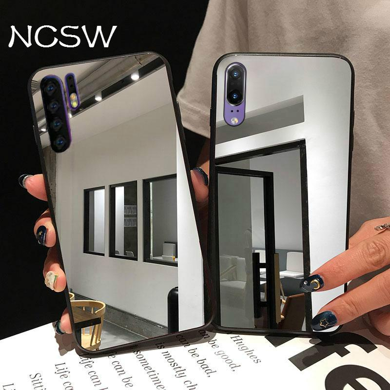 Nuevo caso de acrílico para Huawei Nova 5i 5 P30 P20 Mate20 Pro Honor 20 10 9 Lite 10i 20i 8A 8C 8X Y5 Y6 P Smart 2019 espejo de la cubierta del TPU del