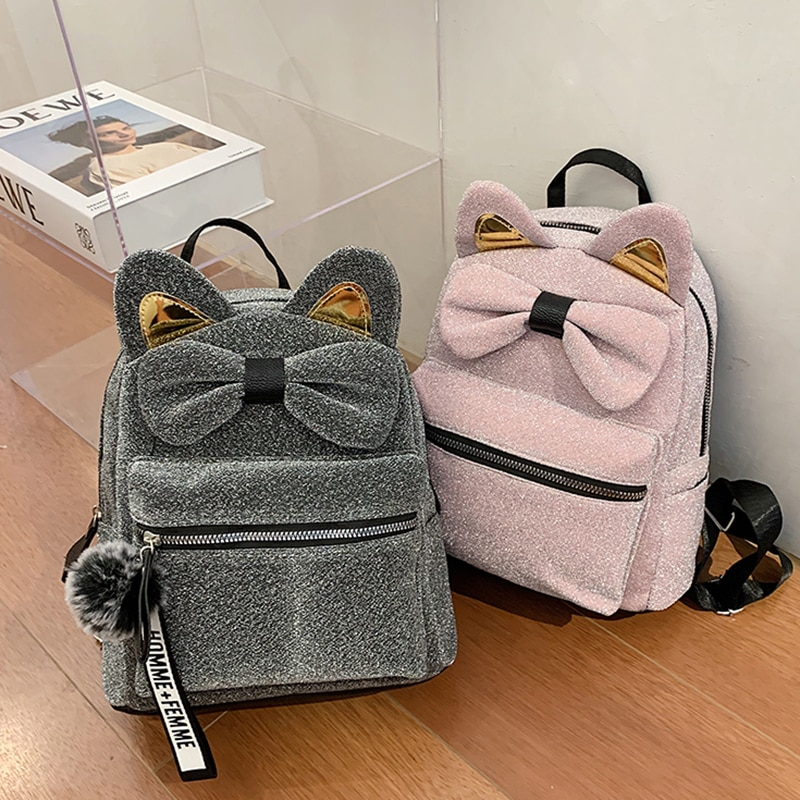 Backpack handbag 2020 new fashion joker velvet junior high school girls bag ins leisure backpack bac