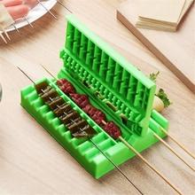 3-in-1 Barbeque Skewer Tool BBQ Grilling Meat Vegetable Wearer Meat String Device Kebab Maker Kitchen Accessories