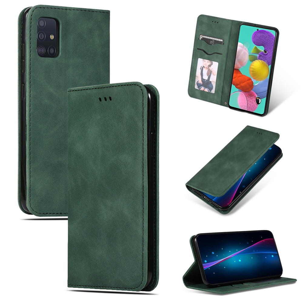 Funda para Samsung Galaxy A71, funda tipo cartera para teléfono, Funda tipo libro para Samsung A71, Funda de cuero con tapa de negocios para Samsung Galaxy A71