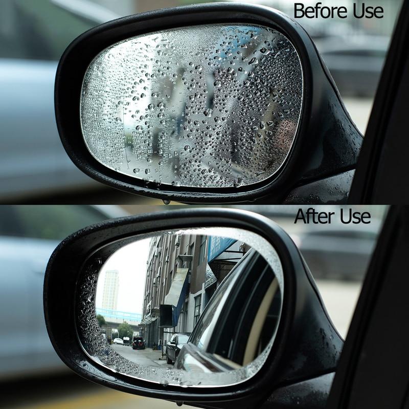 2 Pcs Car Rainproof Clear Film Rearview Mirror Protective Anti Fog Waterproof Film Auto Sticker Accessories 100x145mm