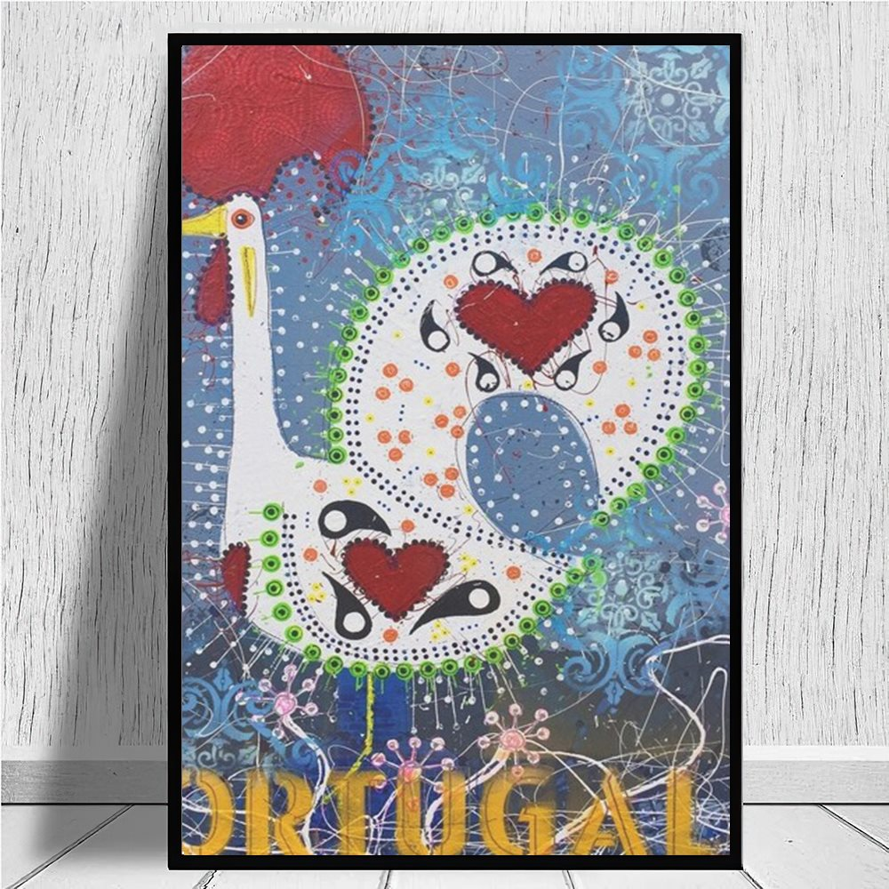 Lienzo impreso de Galo de Barcelona para decoración del hogar, póster artístico...
