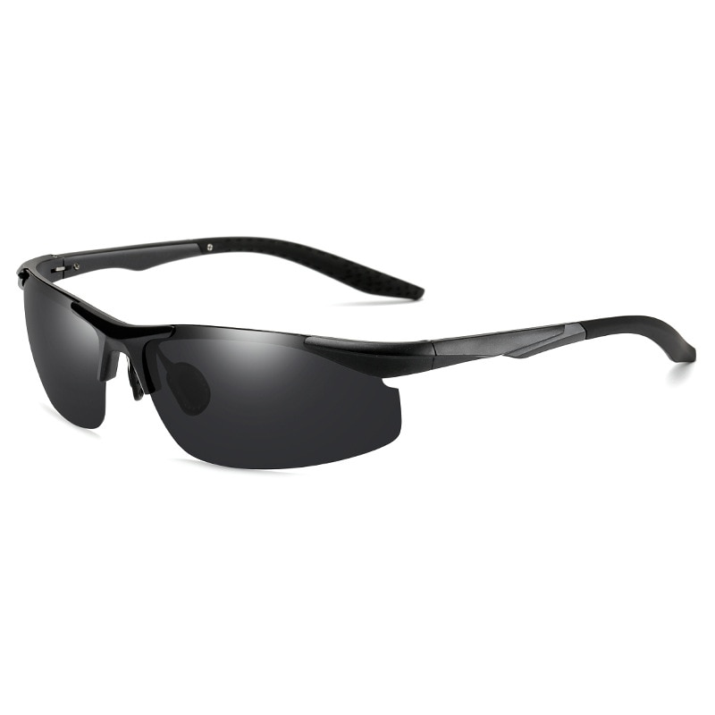 NEW Fashion Sunglasses Men Brand Designer fishing Driving UV400 Vintage Polarized Square Metal Frame
