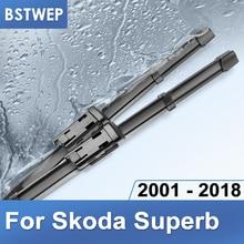 BSTWEP شفرات ممسحة لسكودا سوبيرب B5 B6 B8 صالح زر ضغط الأسلحة/الجانب دبوس الأسلحة/هوك الأسلحة موديل سنة من 2001 إلى 2018