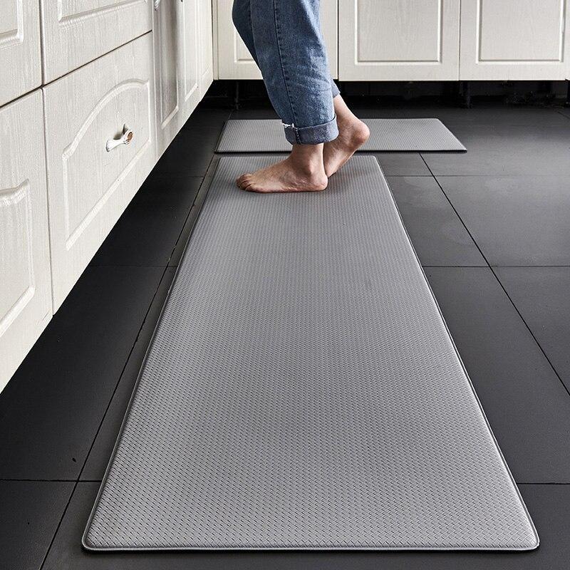 حصيرة أرضية المطبخ مصنوعة من مادة بولي PU انتعاش بطيء ، واقية من النفط ، مقاوم للماء ، عدم الانزلاق ، وتنظيف حصيرة الكلمة.