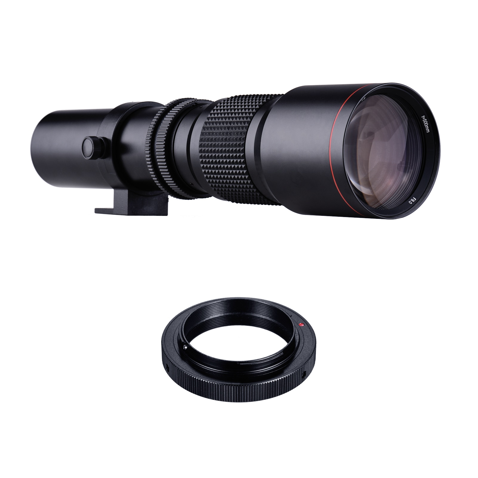 500mm F 8 0-32 Camera Lens Manual Zoom   T-Mount to F-Mount Adapter Ring Kit Replacement for Nikon Cameras Photography Studio