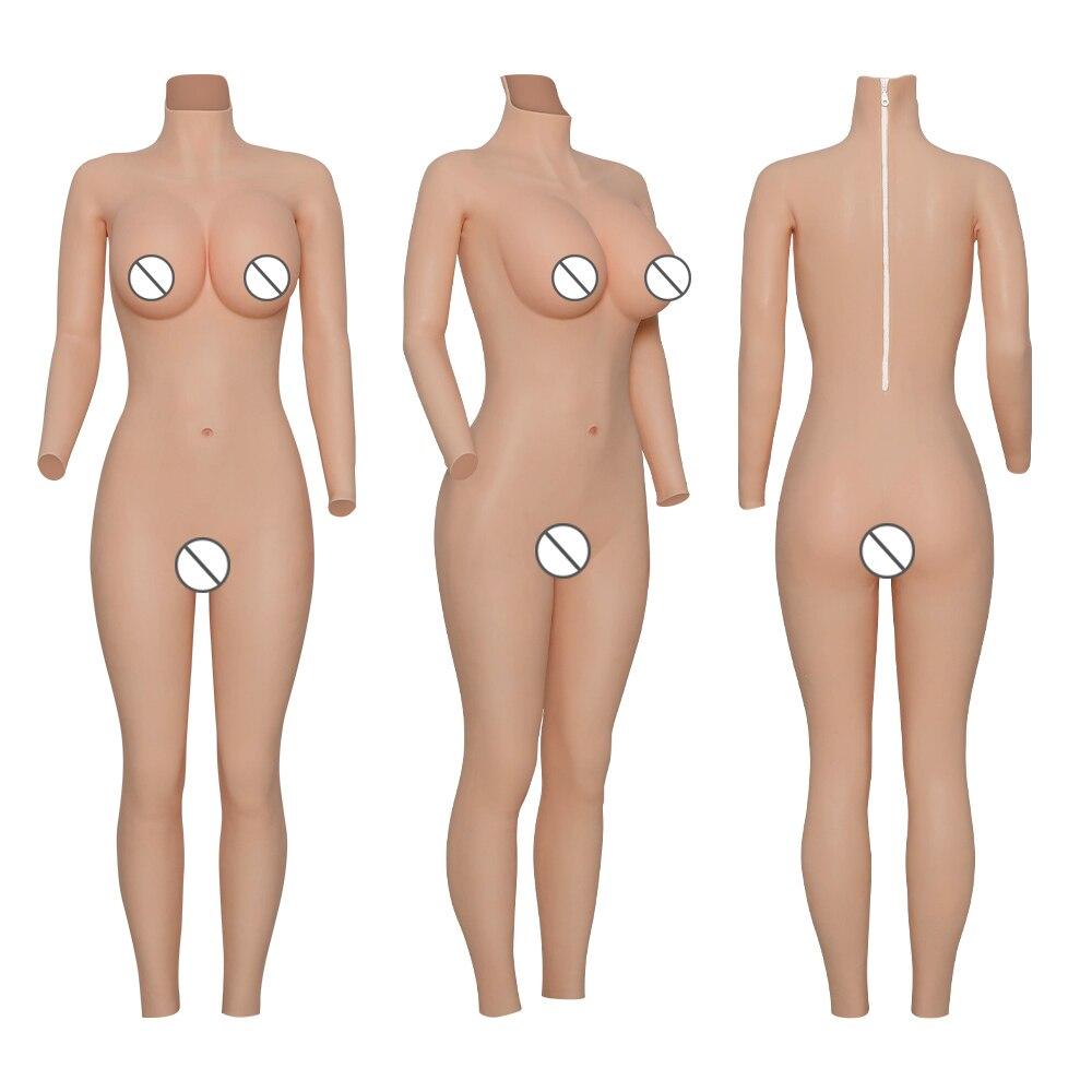 Cyomi formas de mama silicone collants e copo peitos tamanho grande ternos do corpo inteiro para drag queen crossdresser shemale pode fazer amor