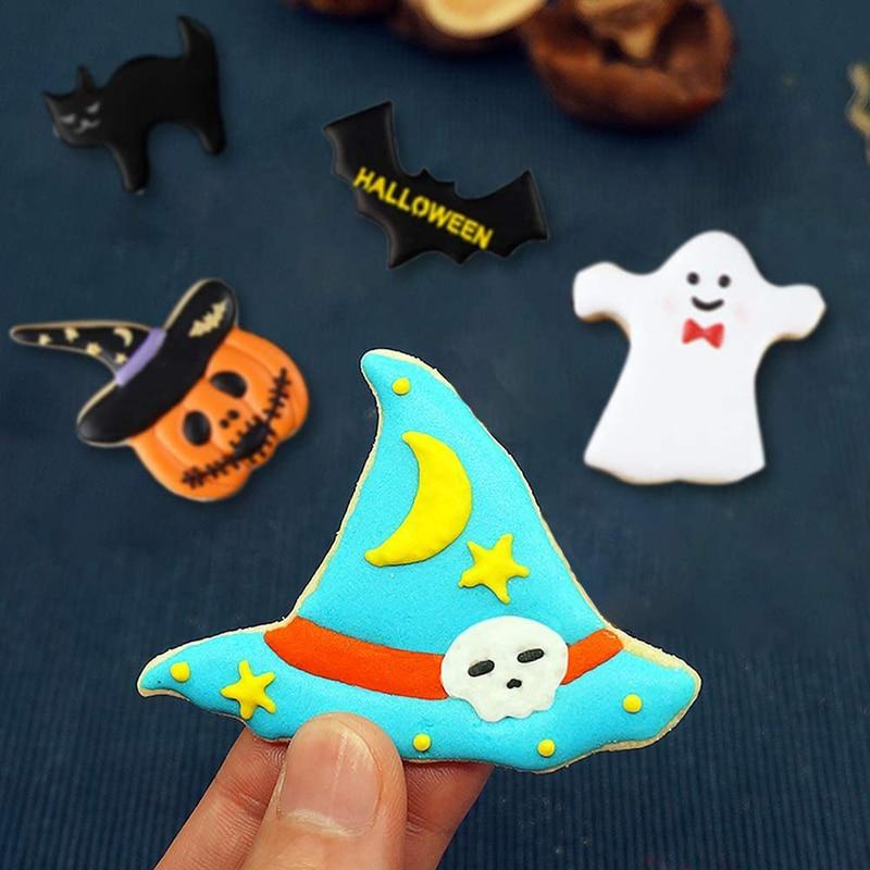 Хэллоуин Декор печенье резак Тыква призрак ведьма печенье торт форма Хэллоуин печенье вечевечерние насос инструмент для выпечки своими ру...
