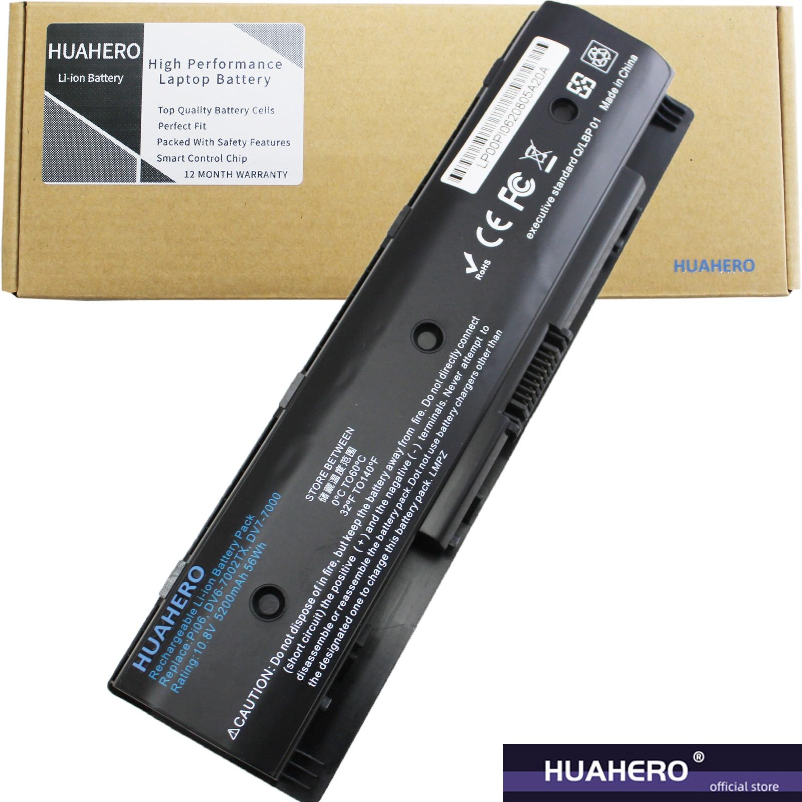 HUAHERO PI06 بطارية ل HP الحسد 15 17 17z جناح 14 14z 14t hstnn yb40 710416 001 710417 001 P106 الكمبيوتر الدفتري توش PI09