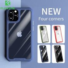 FLOVEME étui transparent pour iPhone 12 11 Pro 360 Protection intégrale trempé antichoc pleine lentille Protection couverture pour iPhone 12 Pro Max