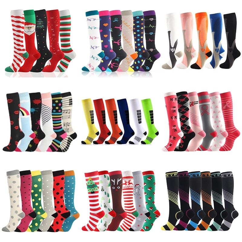 Men Women Compression Stockings Fit For Sports Compression socks For Anti Fatigue Pain Relief Knee Prevent Varicose Veins Socks