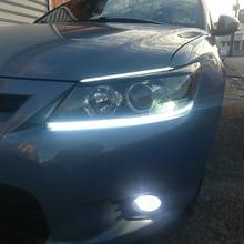 2x 45/60cm Car Tira Flexível LED Branco Daytime Running Luz Para BMW M E60 E46 E39 E90 E36 E87 F10 F20 F30 F15 1 3 5 Series
