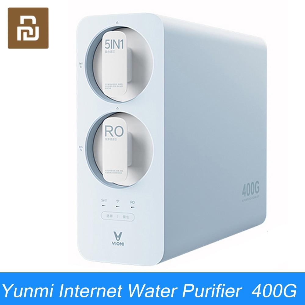 Youpin VIOMI البلوز المطبخ-تحت 400G منقي مياه المنزلية مباشرة منقي مياه شرب منقي مياه التناضح العكسي منقي مياه بالتناضح العكسي منقي مياه