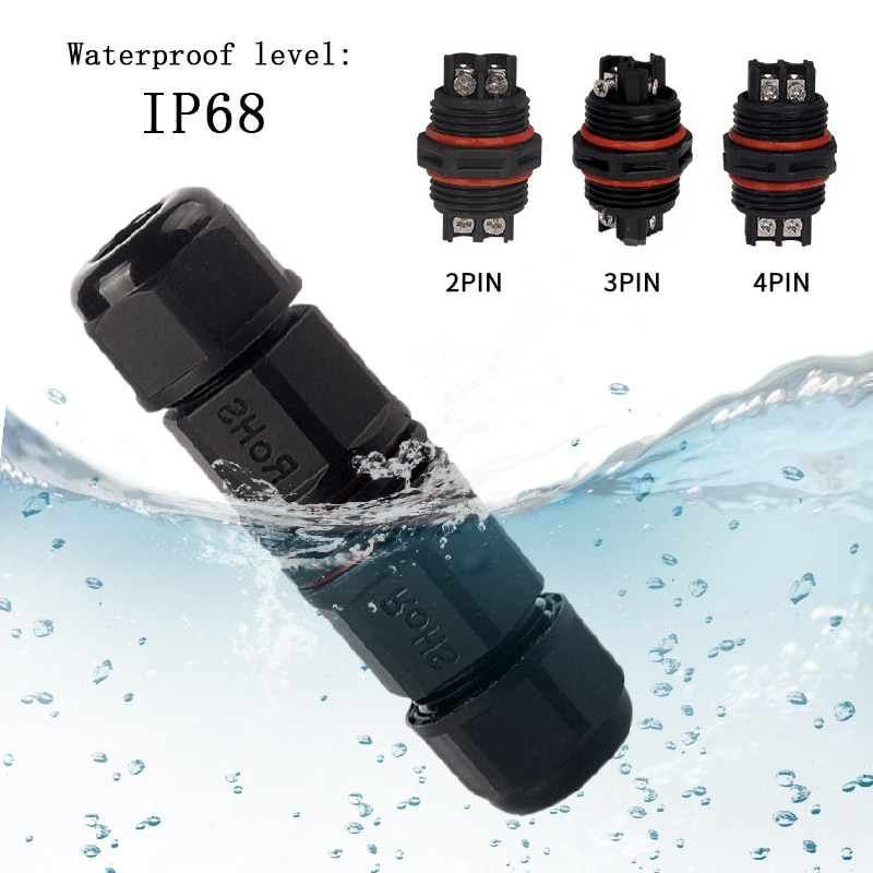 Vis de connecteur de câble 2pin 3pin 4pin   IP68 étanche, adaptateur Compact Durable 6-11mm, prise de fil électrique pour conecteur extérieur