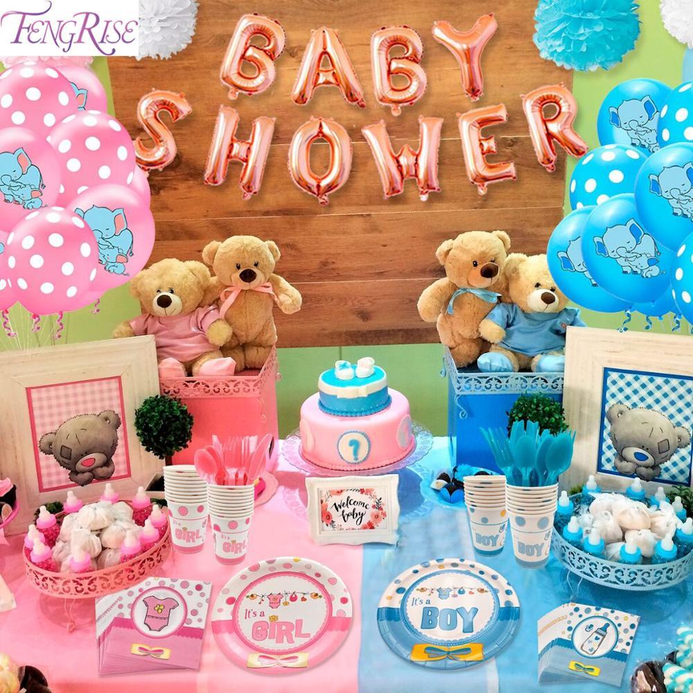 Globos elefante Baby Shower niño niña decoraciones bebé género revela niños fiesta de cumpleaños Babyshower bautizo decoración Bautismo