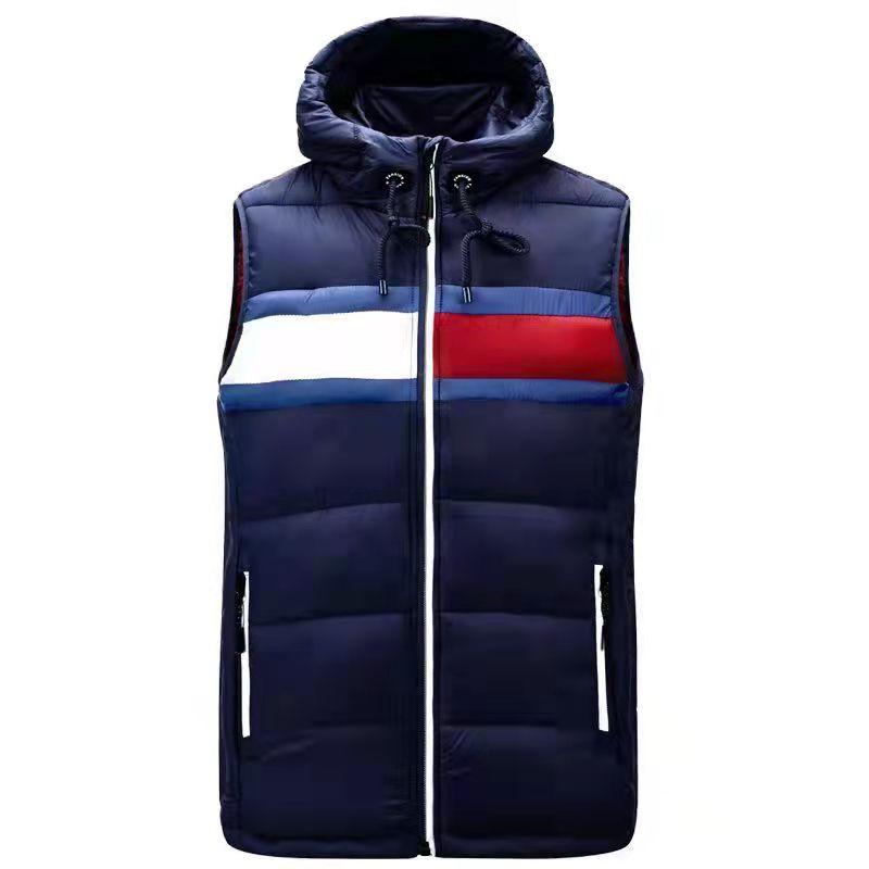 2021 уличный Повседневный теплый мужской жилет на молнии, куртка без рукавов, Мужской осенне-зимний повседневный спортивный жилет, теплый жил...