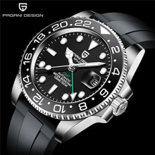 PAGANI DESIGN GMT Men's 40mm Automatic Wristwatch Stainless Steel Waterproof Mechanical Watches Top