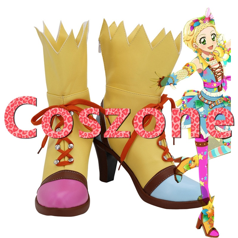 Aikatsu Shinjo Hinaki zapatos de Cosplay botas Halloween carnaval Cosplay Accesorios