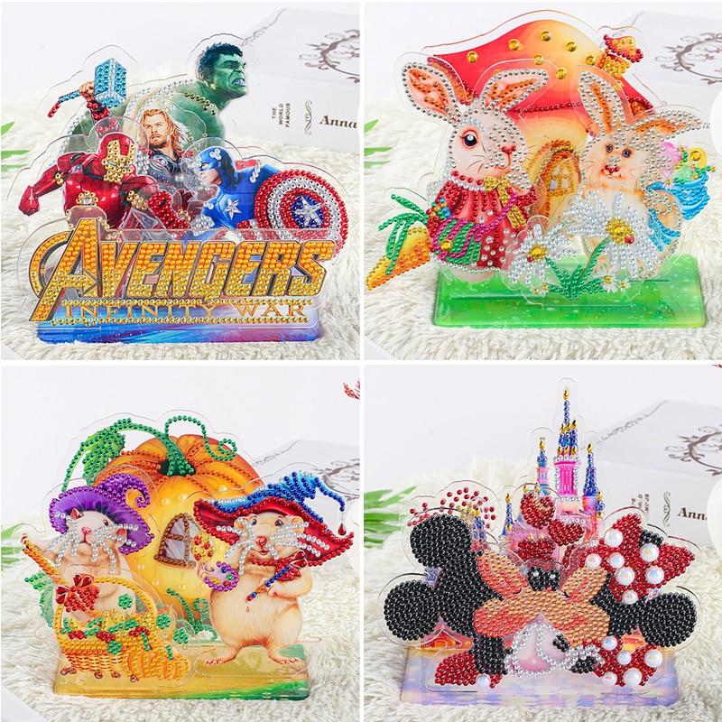 5d DIY Diamond Painting Cross Stitch Kit Cartoon Mouse Diamond Embroidery Mosaic Painting Acrylic Gift Children Christmas Decor