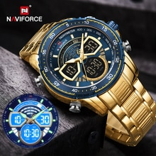 NAVIFORCE Mens Military Sports Waterproof Watches Luxury Analog Quartz Digital Wrist Watch for Men B