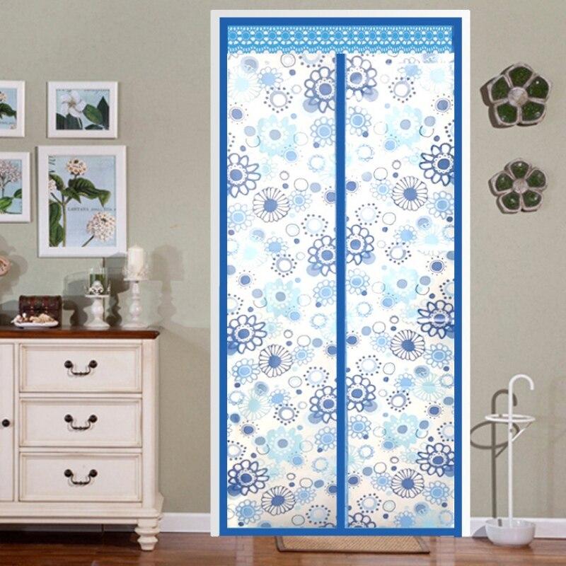 Cortina de puerta de malla con aislamiento térmico magnético para puerta de pantalla magnética para sala de aire acondicionado/Cocina