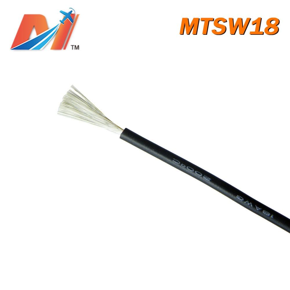 Venta de liquidación de Maytech (1 metro) cable de silicona de potencia AWG18 COLOR negro