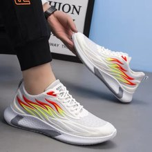 Men Sneakers 2021 new spring breathable running shoes sports casual flame shoes old shoes