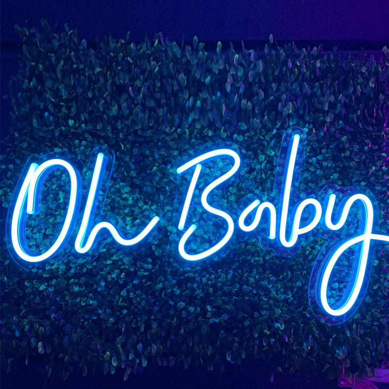 Oh Baby Led Neon Sign Custom For Room Bedroom Decor Wall Decoration with dimminng plug powered