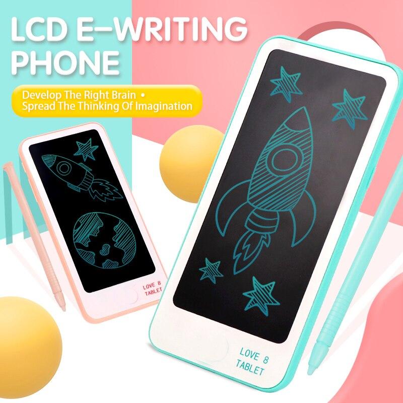 Lcd Tablet do pisania 6 cal elektroniczny notatnik graficzny malarstwo Tablet notes minilampka cyfrowy rysunek pisma telefon