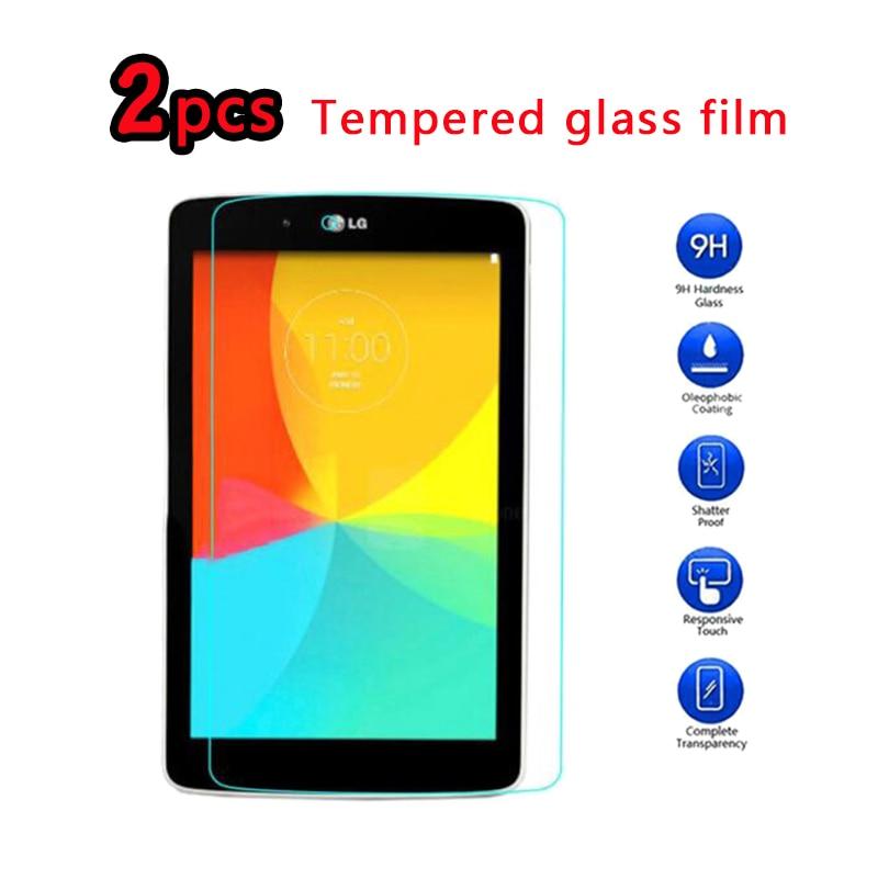 2pcs 9H Screen Protector Film For LG G Tablet Pad 7.0 8.0 8.3 10.1 GPad V400 V480 V490 V500 V700 Tempered Glass Anti Explosion