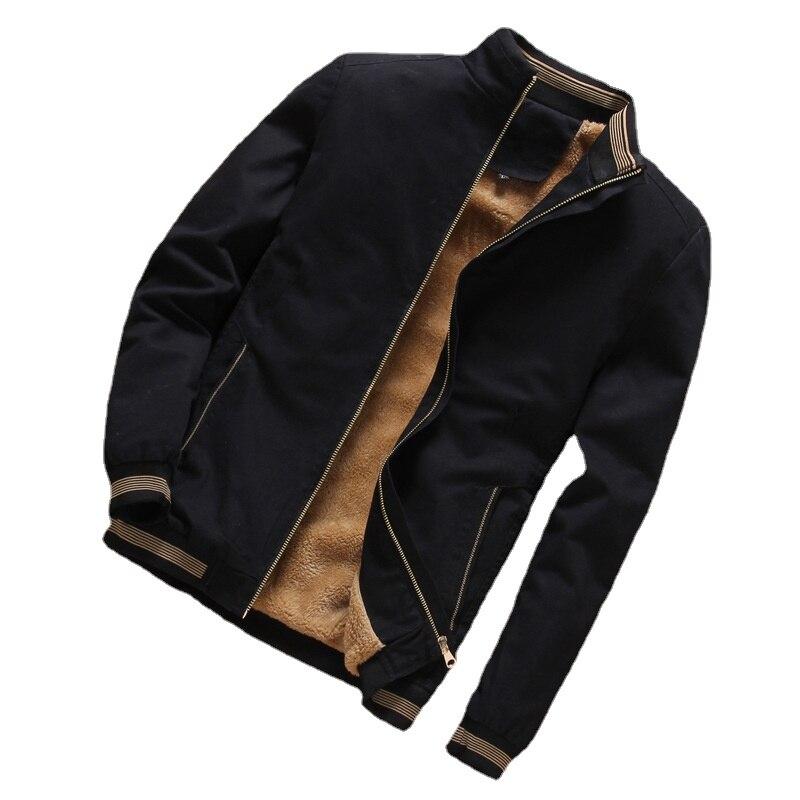 Осенняя мужская куртка-бомбер, повседневная мужская верхняя одежда, флисовая Толстая теплая ветровка, куртка, мужские бейсбольные пальто, о...