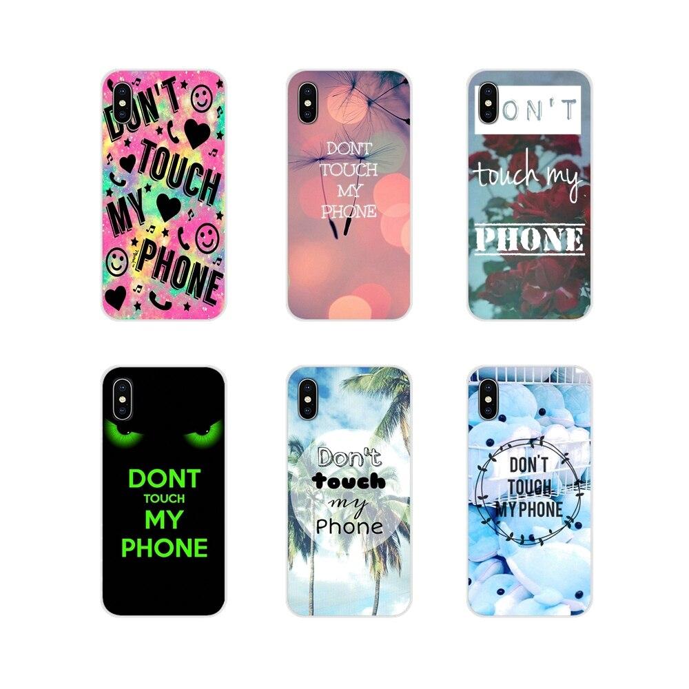 Accesorios fundas de teléfono para Samsung Galaxy S3 S4 S5 Mini S7 S6 Edge S8 S9 S10 Lite Plus Note 4 5 8 9 No toques mi