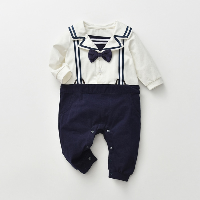 Yg Brand Children's Wear 2021 New Fake Two-piece Baby Suit, Creeping Suit, Children's One-piece Long