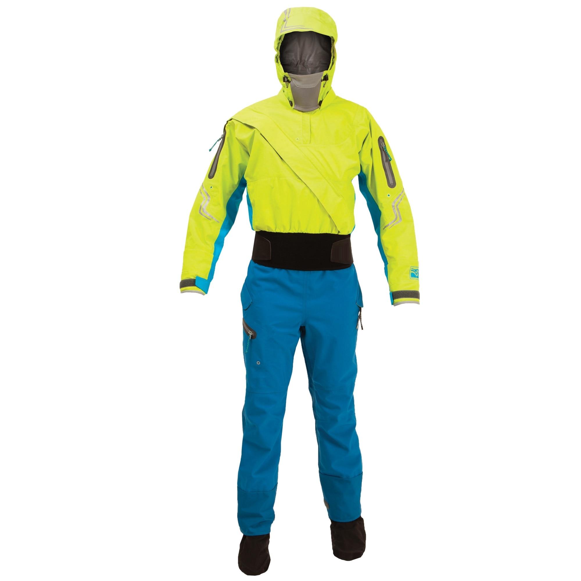 DW15 Waterproof Dry Suits Kayaking Drysuits For Women Paddle Splash Hoodies