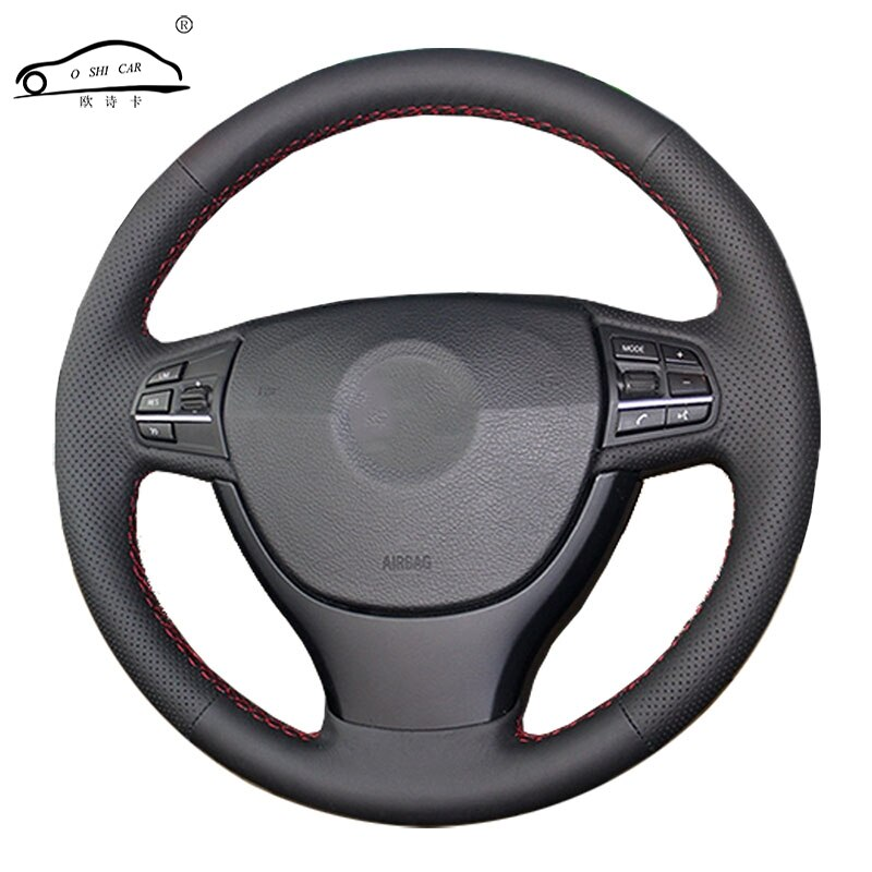 Trenza de volante de coche para BMW F10 523Li 525Li 2009 730Li 740Li 750Li/cubierta de volante hecha a medida