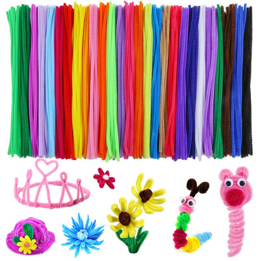 Metable 324 piezas limpiadores de tuberías 27 colores Chenille tallos para DIY Arte Creativo artesanía decoraciones (6mm x 12 pulgadas)